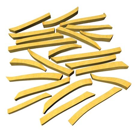 frites: 3d render of pomes frites