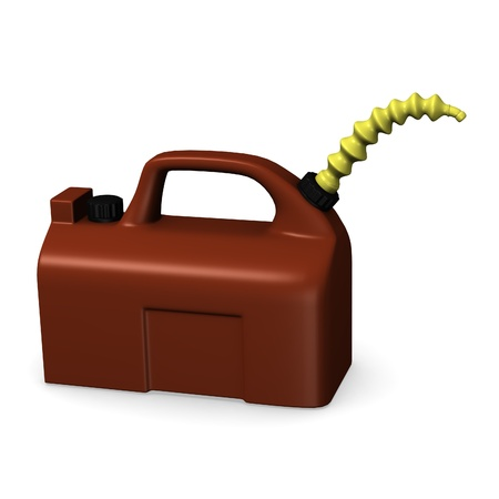 gas can: 3d render of gas can