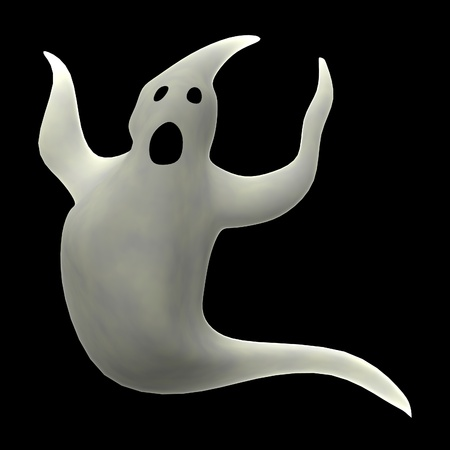halloween cartoon: 3d render of cartoon ghost