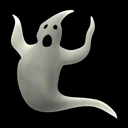 Tecknad film 3d framför spöke