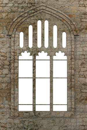 church 3d: 3d render of gothic window