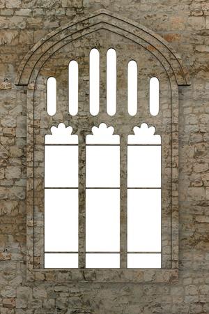 3D render van gotische venster
