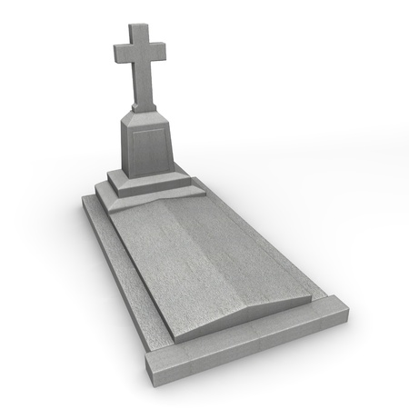 3d render of stone grave photo