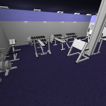 3d render of gym interior  Stock Photo - 12911517