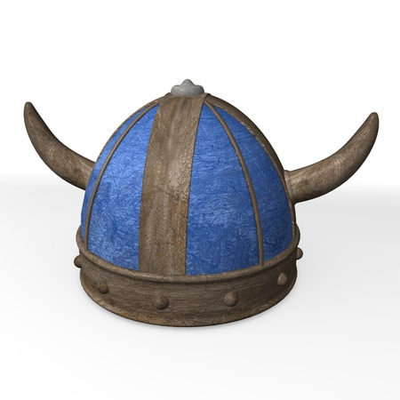 3d render of old helmet  Stock Photo