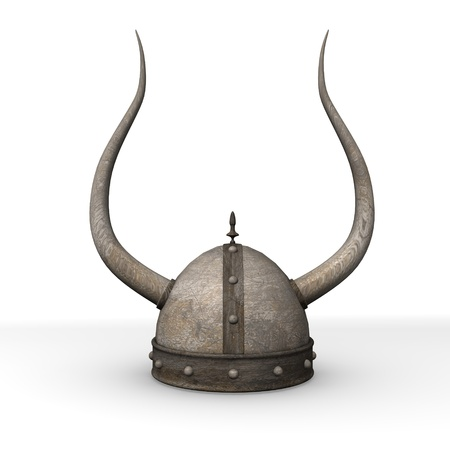 3d render of old helmet  photo