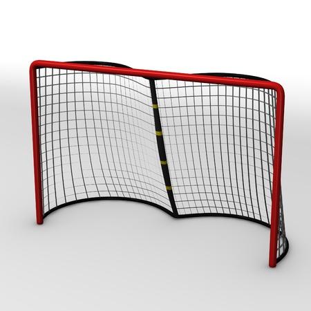 3d render of hockey goal photo