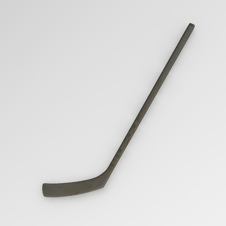 3d render of hockey stick