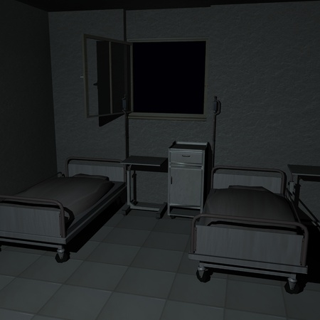 3d render of hospital room  Stock Photo - 12906663