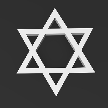 israelite: 3d render of jewish symbol