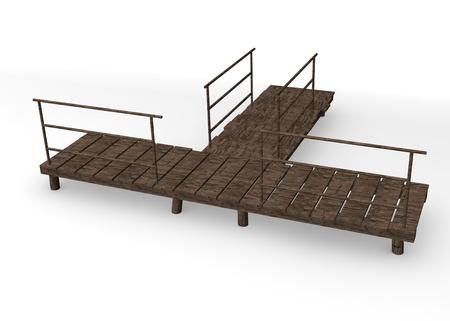 landing stage: 3d render of landing stage