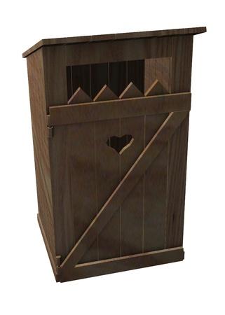 latrine: 3d render of old latrine  Stock Photo