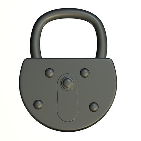 3d render of lock (for keys)  Stock Photo - 12907618