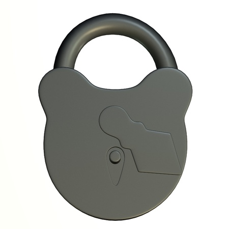 3d render of lock (for keys)  Stock Photo - 12907495