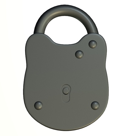 3d render of lock (for keys)  photo