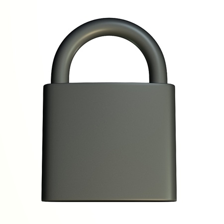 3d render of lock (for keys)  Stock Photo - 12907685