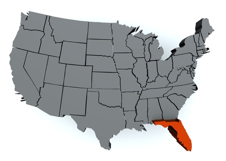 D Map Of Florida Stock Photo Picture And Royalty Free Image - Florida us map