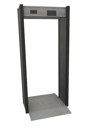 3d render of metal detector photo