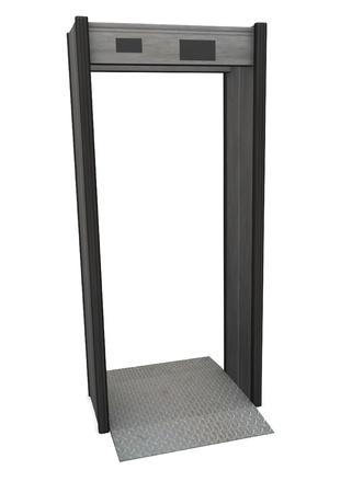 3d render of metal detector