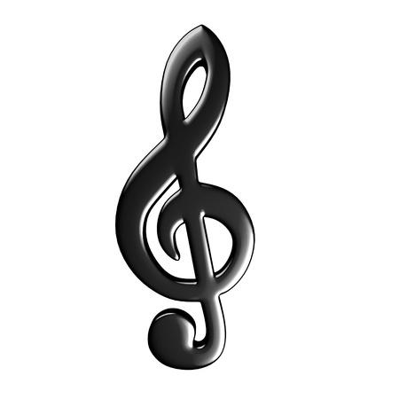 clave de fa: 3d rinden de s�mbolo musical