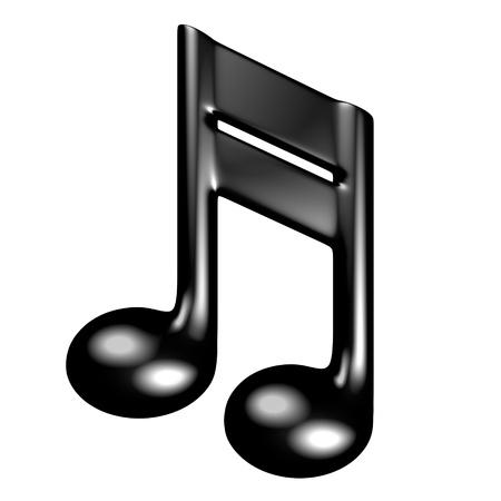 音楽記号の 3 d レンダリング