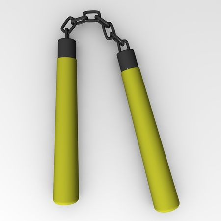 ヌンチャクの武器の 3 d レンダリング