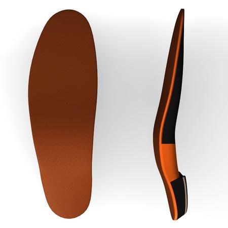 装具の 3 d のレンダリング (靴記入)