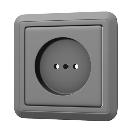 3d render of electric outlet  photo