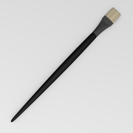 3d render of paint brush photo