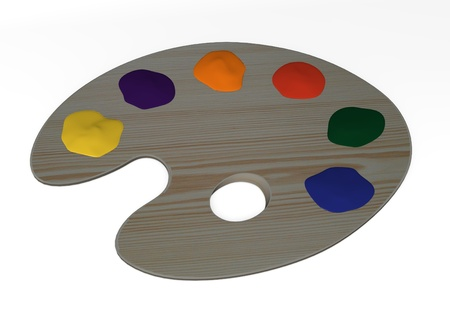 3d render of wooden palette  photo