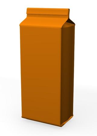 3d render of pasta box  photo