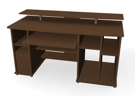 vizualisation: 3d render of pc table  Stock Photo