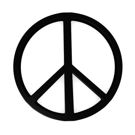 simbolo della pace: Rendering 3D di simbolo della pace