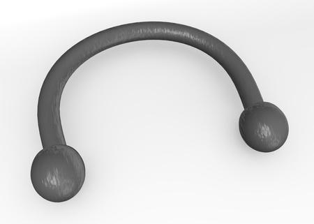 nipple piercing: 3d render of metal piercing  Stock Photo