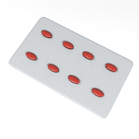 3d render of pill plate  photo