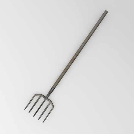 3d render of garden pitchfork