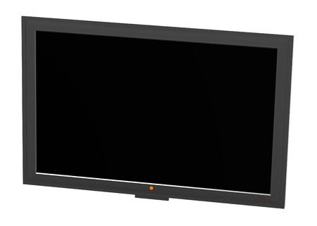 plasma screen: 3d render of plasma screen  Stock Photo