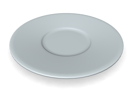 dish disk: 3d render of small plate  Stock Photo