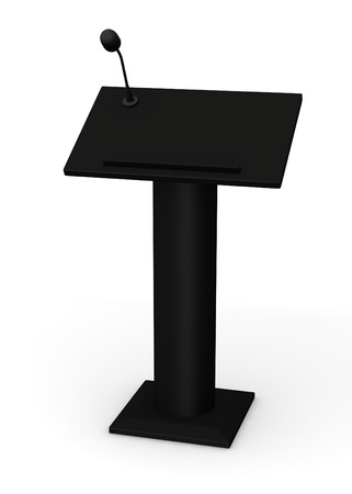 lectern: 3d render of podium with microphone