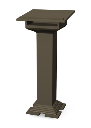 lectern: 3d render of podium without microphone