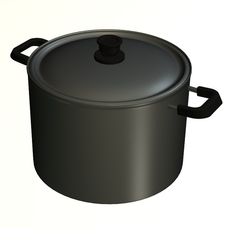3d render of cooking pot  photo
