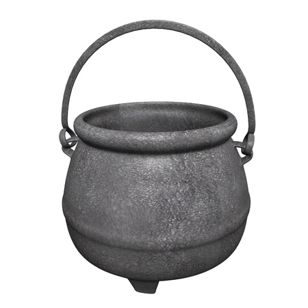 3d render of old pot  photo