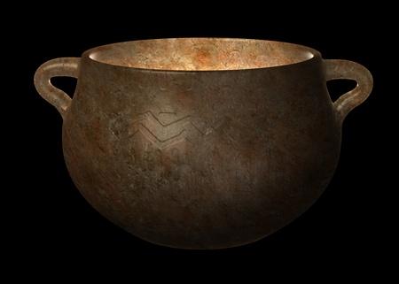 habilis: 3d render of prehistoric vase