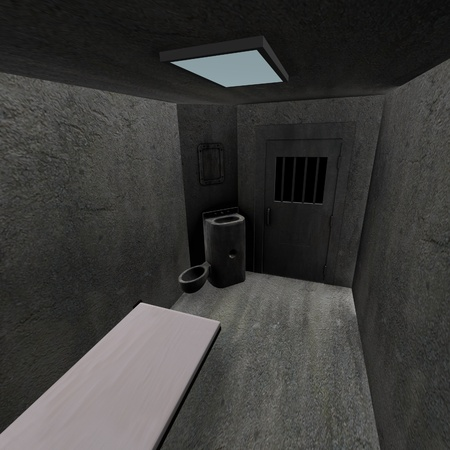 prison cell: 3d render of prison cell  Stock Photo