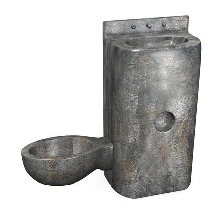 prison facility: 3d render of  prison toilet