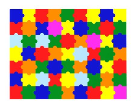3d render of colour puzzle  Stock Photo - 12915324