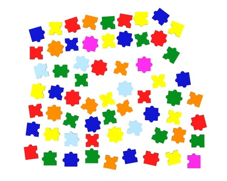 3d render of colour puzzle  Stock Photo - 12915793
