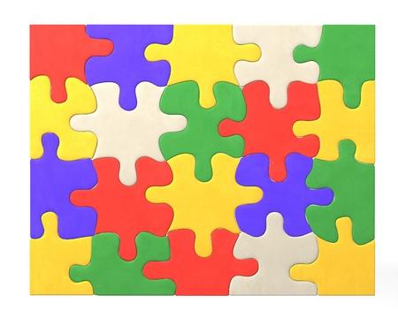 3d render of colour puzzle  Stock Photo - 12986054