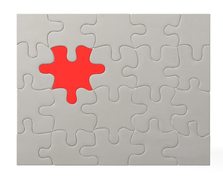 3d render of colour puzzle  Stock Photo - 12985570
