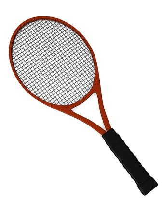 3d render of tennis racket Stock Photo - 12985866